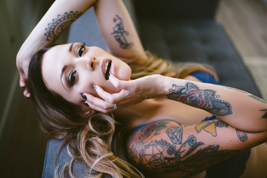 Tattoo Boudoir Babe Photographer