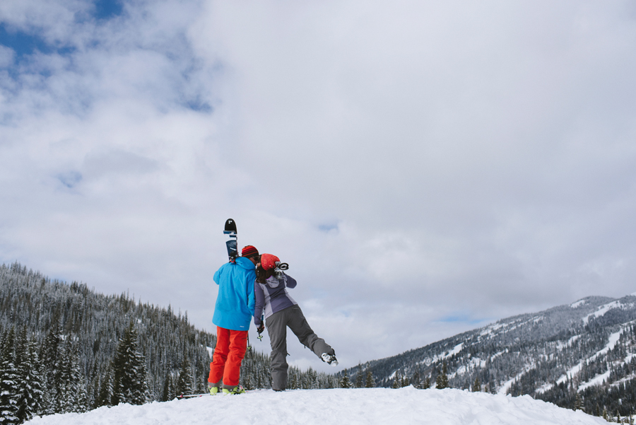 Sun Peaks Winter Engagement